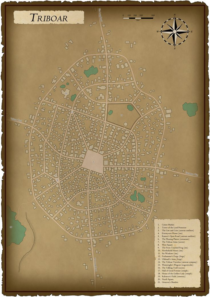 Triboar City Map (Forgotten Realms)
