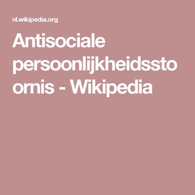 Antisociale persoonlijkheidsstoornis - Wikipedia