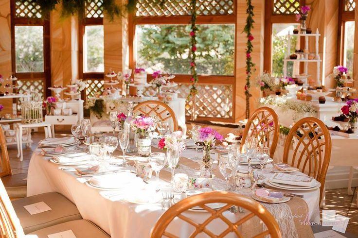 The Garden Room set for a sweet bridal shower | Eschol Park House