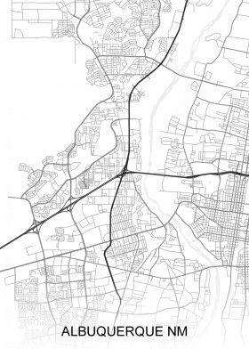 Albuquerque NM USA Street Map | North America Street Maps | road map ...