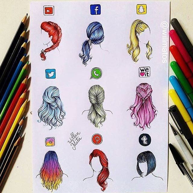 Comment your FAVE Social Media Hairstyle! Follow us now! @just_arts_help  . By @willmatos