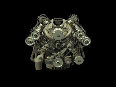 23 best engines▫animation images on pinterest animation, engine Volkswagen W16 Engine  W16 Quad-Turbo Bugatti Veyron Engine W16 Engine Illustrations