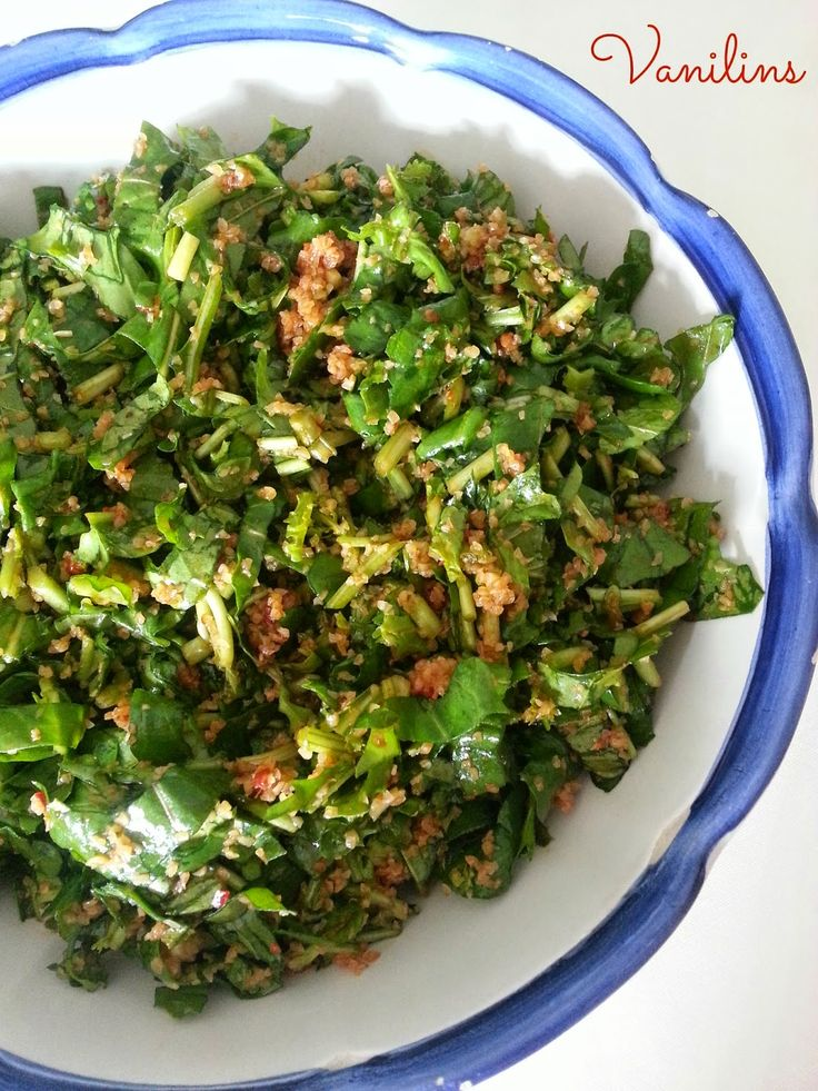Vanilins: Bulgurlu Roka Salatası