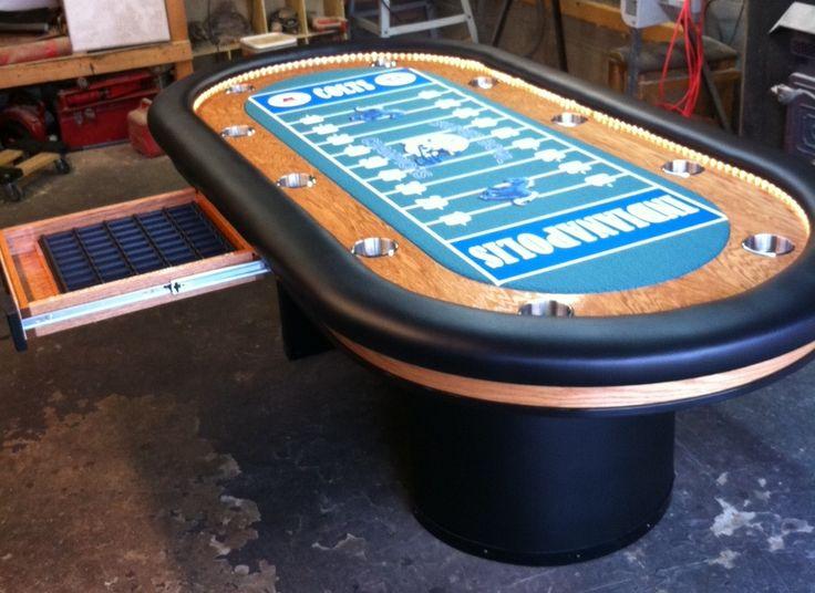 Indianapolis Colts Logo NFL Football Custom Felt Team Colors Football Poker  Table