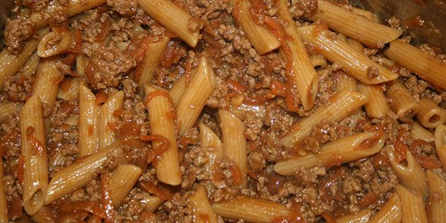 Indianergryde med pasta