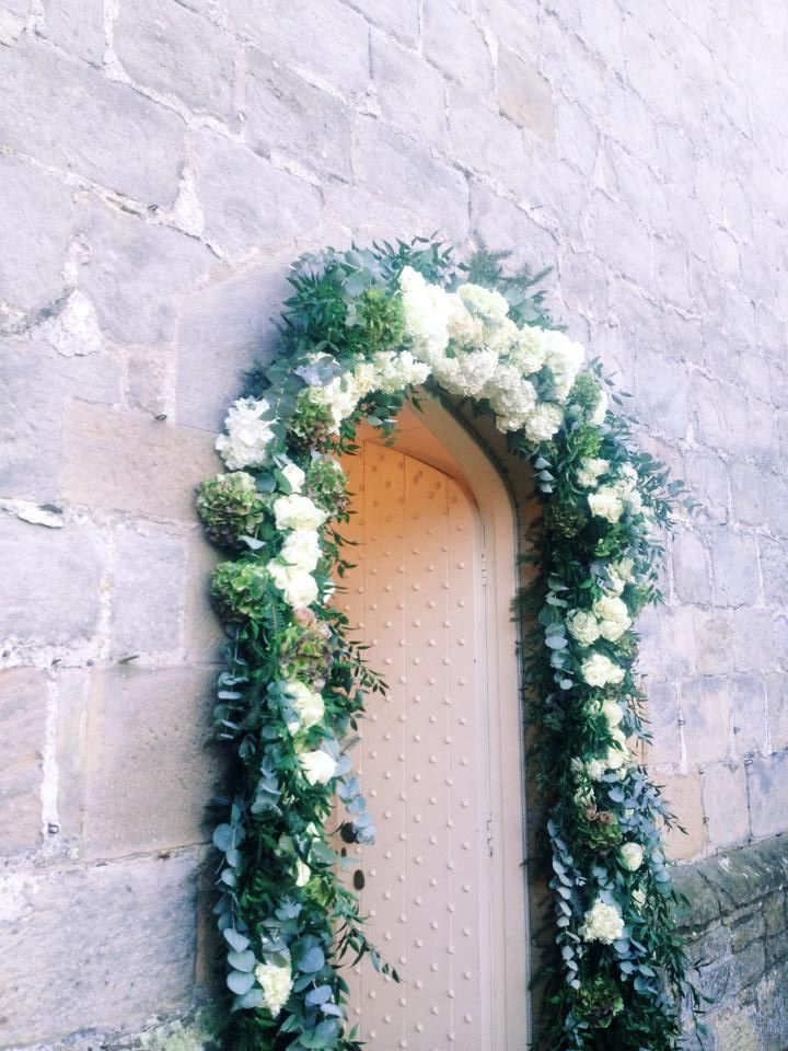 Floral Archway. Hydrangea and Roses