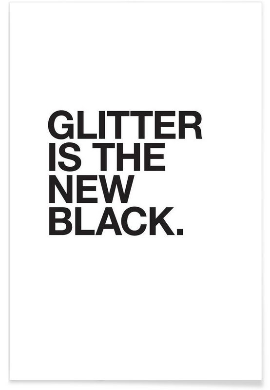 Glitter black als Premium Poster von JUNIQE | JUNIQE