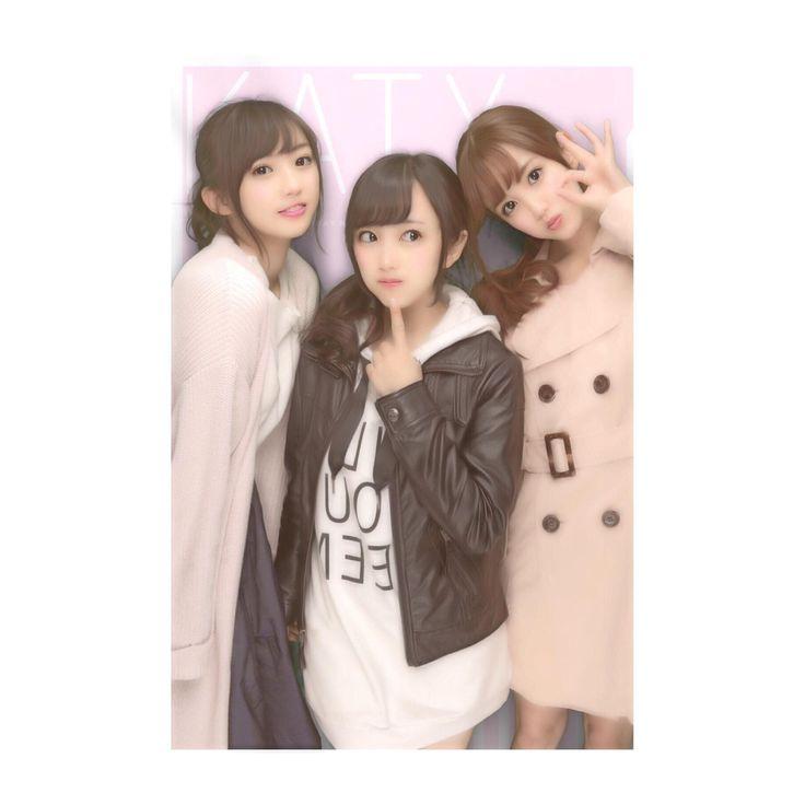 Kizaki Yuria (木﨑ゆりあ) & Kato Rena (加藤玲奈) & 向井地美音 Mukaichi Mion #gravure #AKB48 #japan #mukaichi #Mion #Team4 #jpop #idol #beautiful