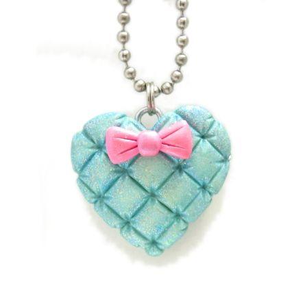 Mint Lolita Heart Necklace
