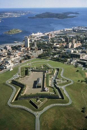 Aerial photo of the Citadel & Halifax, Nova Scotia