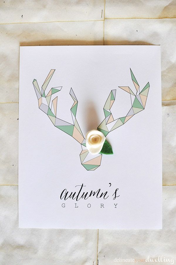 Geometric Deer Antler Printable - Delineate Your Dwelling