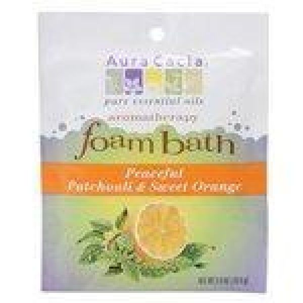 Aura cacia, bath foam patchouli orng, 2.5 oz, (pack of 6)  Aromatherapy foam bath Features a relaxing lavender aroma Made paraben free  Features : Aura Cacia Peaceful Patchouli & Sweet Orange, Aromatherapy Foam Bath, 2.5 oz packet *Aura Cacia