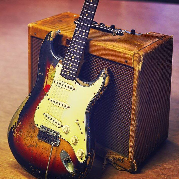 1964 Fender Stratocaster and 1958 Fender Tweed Deluxe Amp