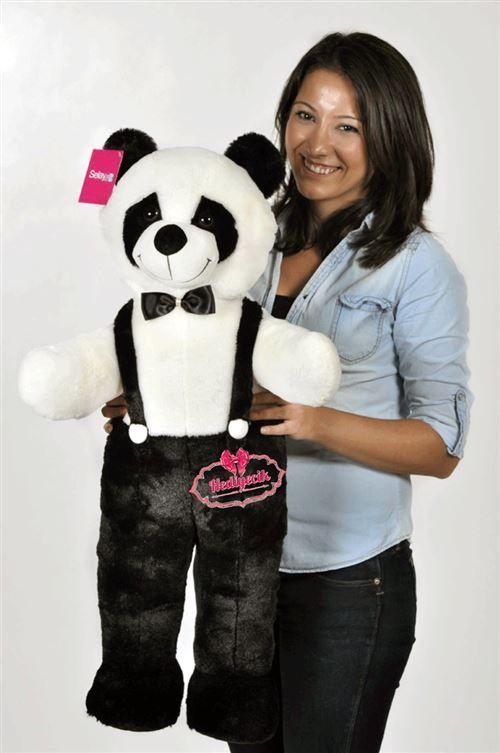 Peluş Oyuncak Panda 60 Cm Gül Buketli Sevimli Şirin Panda