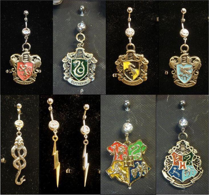 Harry Potter belly piercing. If i had my belly button pierced...I'D GET THESE IN A HEART BEAT!