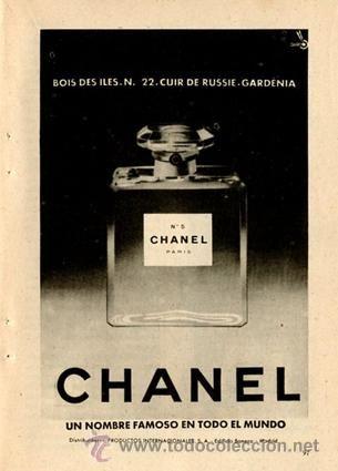Página de publicidad Original *CHANEL Nº 5* - Año 1959