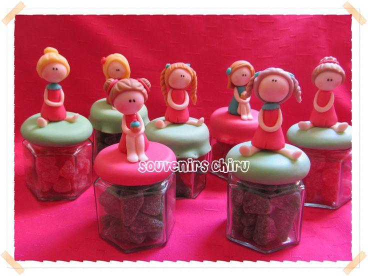 Frascos decorados con porcelana fr a con o sin relleno de - Caramelos de navidad ...