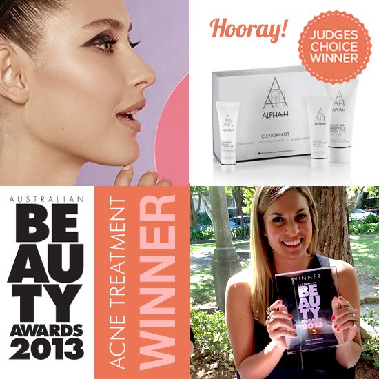 "We are thrilled to announce that the Alpha-H Clear Skin Kit Won The Australian Beauty Awards 2013 for Best Acne Treatment! This kit also happens to be a fav of One Direction's Niall Horan who claims ""Alpha-H is the only one that works!"" #award #australian #beauty #beautyawards #winner #clearskin #acne #best #acnetreatment"