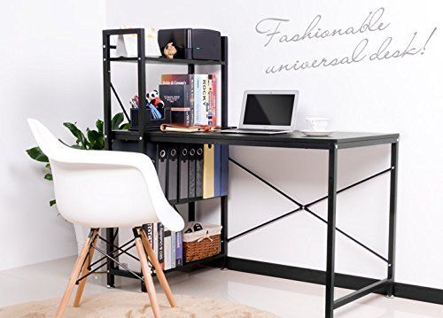 #giving Multi-function Computer Desk This functional and fashionable modern desk with large storage is perfect for all occasions, in your dormitory, bedroom, de...