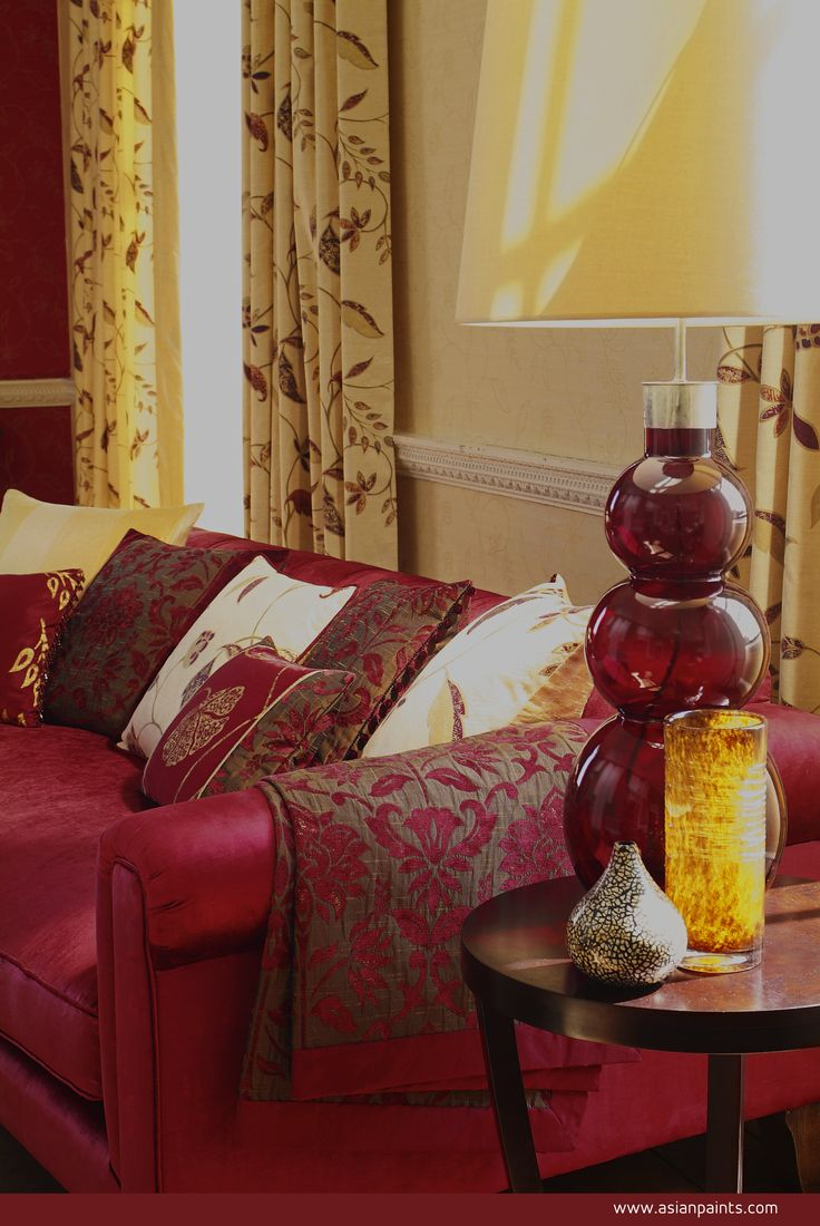 Magnificent accessories and accents of gold alongside madder red upholstery are just perfect for the purpose