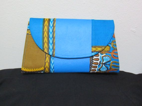 Dashiki Blue Clutch by Florieks on Etsy