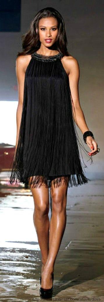Necklace Fringe Dress, Boston Proper
