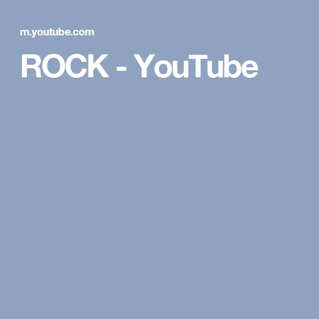ROCK - YouTube