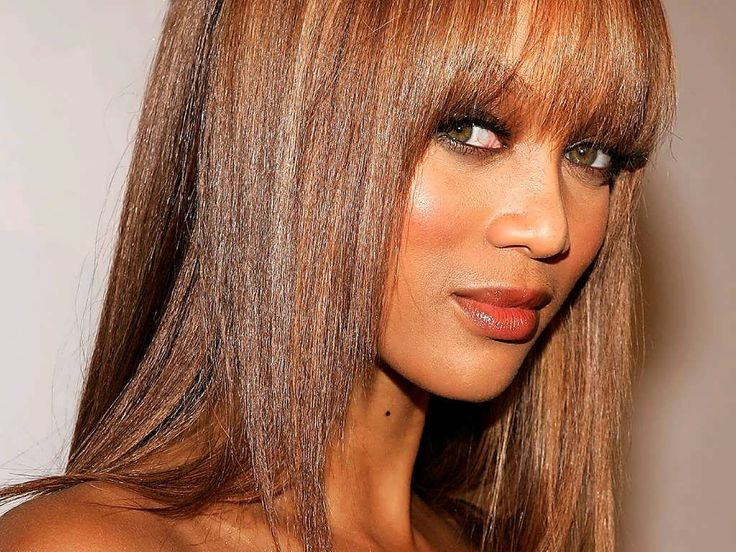 Yummy Lips and Full bosom - Tyra Banks -Model, Actress, TV personality