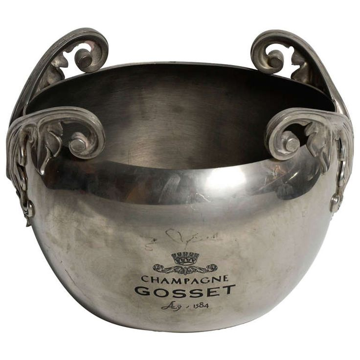 Silver Plated Gosset Champagne Bucket | From a unique collection of antique and modern more dining and entertaining at http://www.1stdibs.com/furniture/dining-entertaining/more-dining-entertaining/