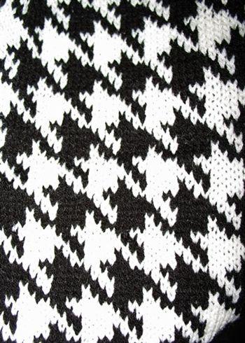 Houndstooth Infinity Scarf - Black/White: Ya Patterns, Scd Patterns Texture, Patterns Ya