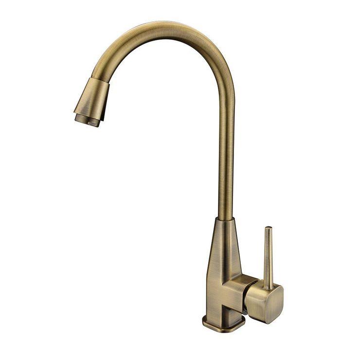 Retro Spültisch Küche Einhebel Armatur Wasserhahn Antik Messing Schwenkbar Bad in Heimwerker, Bad & Küche, Armaturen | eBay