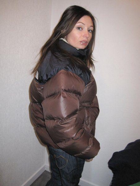 "Brown The North Face ""Nuptse"" down jacket"