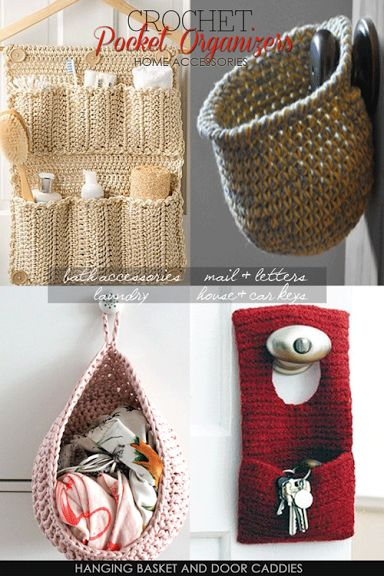 Knit Crochet Sew Pocket Organizers - useful, elegant and versatile - DiaryofaCreativeFanatic
