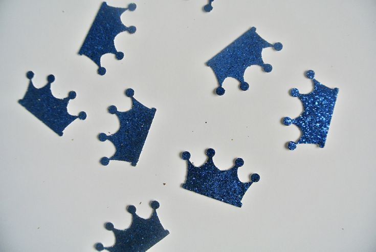 Royal Prince First Birthday Confetti.  READY TO SHIP. By Paper Rabbit on Etsy. Royal Blue by PaperRabbit87 on Etsy