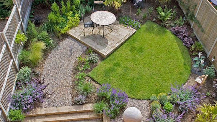15 Garden Layouts That Make Perfect Sense Small Backyard Landscaping Backyard Layout Townhouse Garden