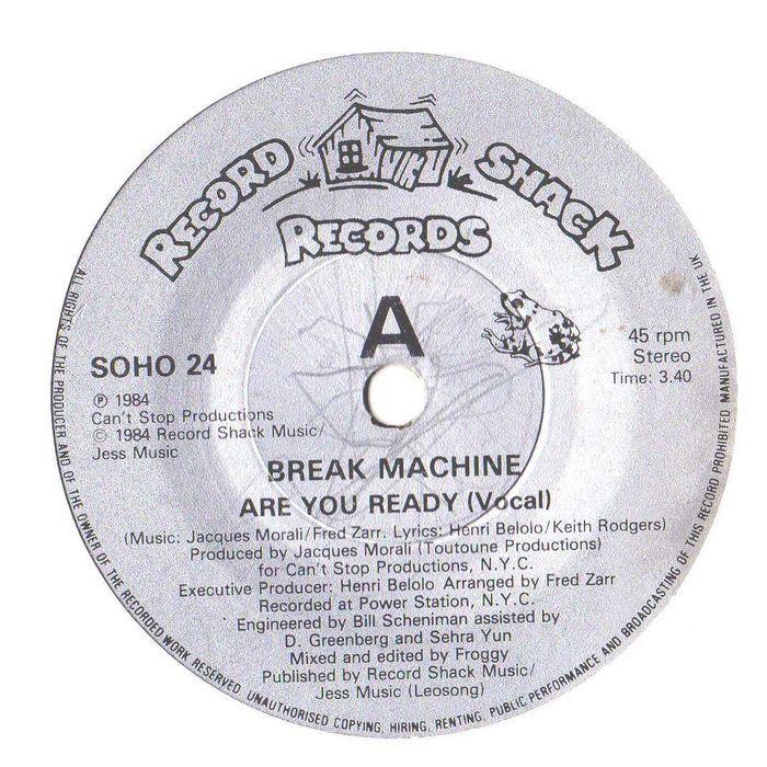 Break Machine Are You Ready Street Dance Break Dance Party 7 Record Soho24 Break Dance Vinyl Music Street Dance