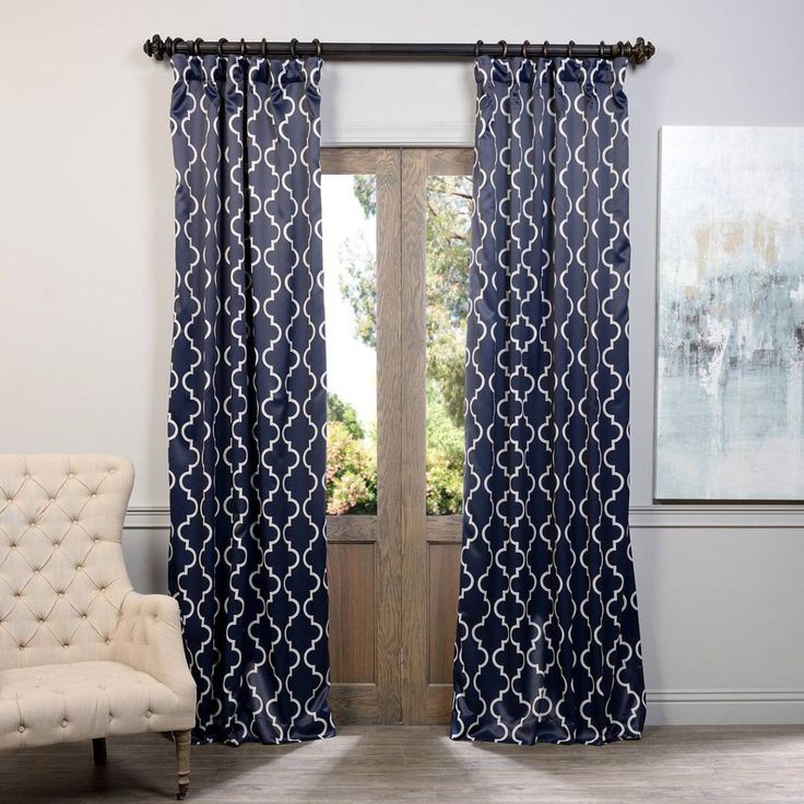 best 25 navy blue curtains ideas on pinterest blue and white curtains navy and white. Black Bedroom Furniture Sets. Home Design Ideas