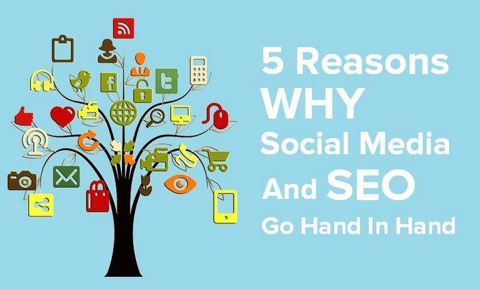 5 Reasons Why Social Media And SEO Go Hand In Hand #infobunny #socialmedia #seo #branding