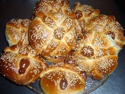 This is Pan de Muertos which is bread of the dead. It is made on special occasion for the Day of the Dead