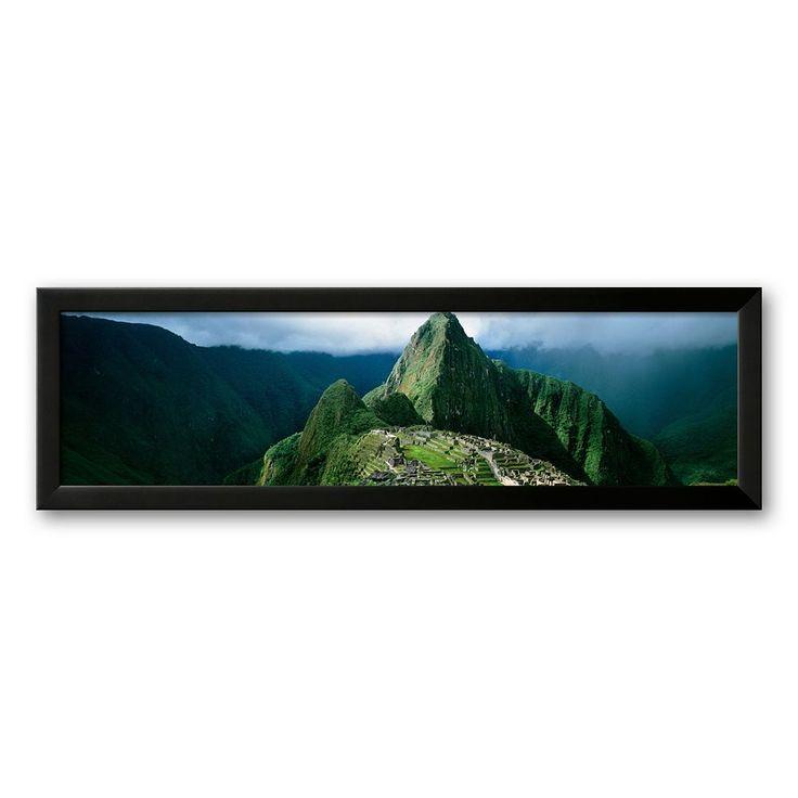 Art.com Machu Picchu, Andes, Peru Framed Art Print by Mark Segal, Multicolor