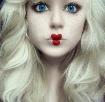 maquillaje de muñeca disfraz