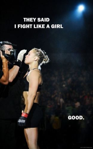 Daily motivation, Ronda Rousey. I would give anything to train with her for a day