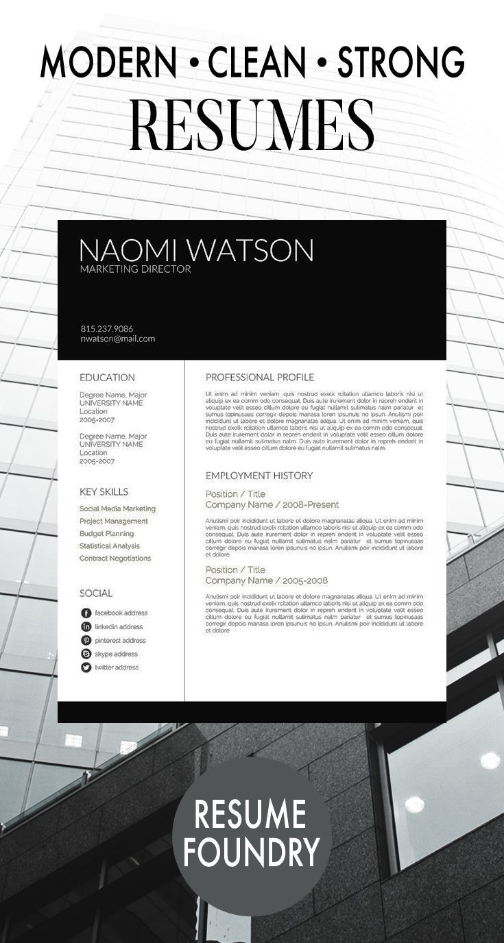 Professional CV Template and Cover Letter Resume