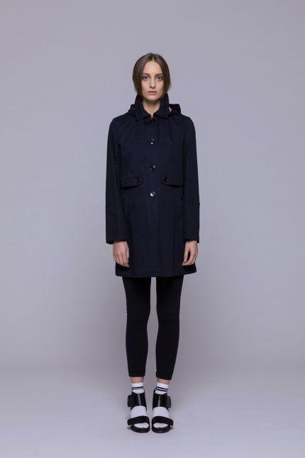 Imperméable court bleu marine #imperméable #bleu #marine #trench-coat #femme #lenerfabriquedemanteaux #mode
