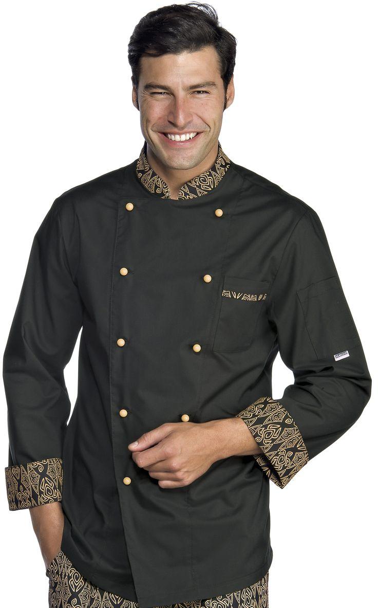 € 39,00 - Chaqueta Chef Negra Maori 59292 ISACCO
