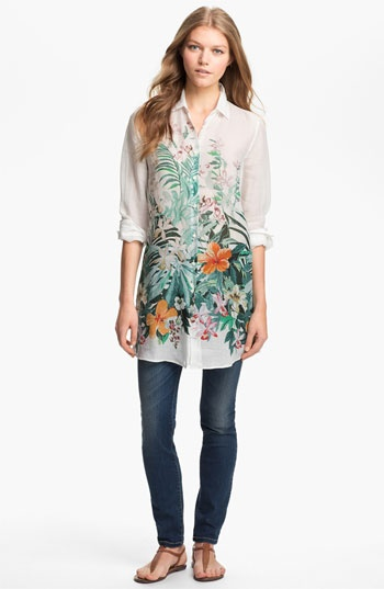Weekend Max Mara Tunic Shirt & Jeans  available at #Nordstrom