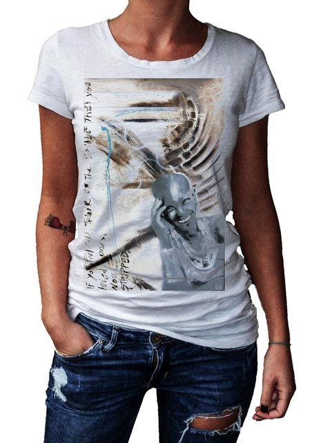 HERMAN EPIS - STRIPPED - T-Artist Collection - Author T-Shirt #doubleexcess #hermanepis #artist #art #artfashion #fashion #style #workofart #tshirt #tee #womenstshirt #womensclothing #womenswear #womensfashion #alternativetshirt #alternative #elegant #madeinprato #madeinitaly