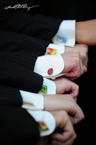 Groomsmen Superhero cufflinks !! - Wedding Site