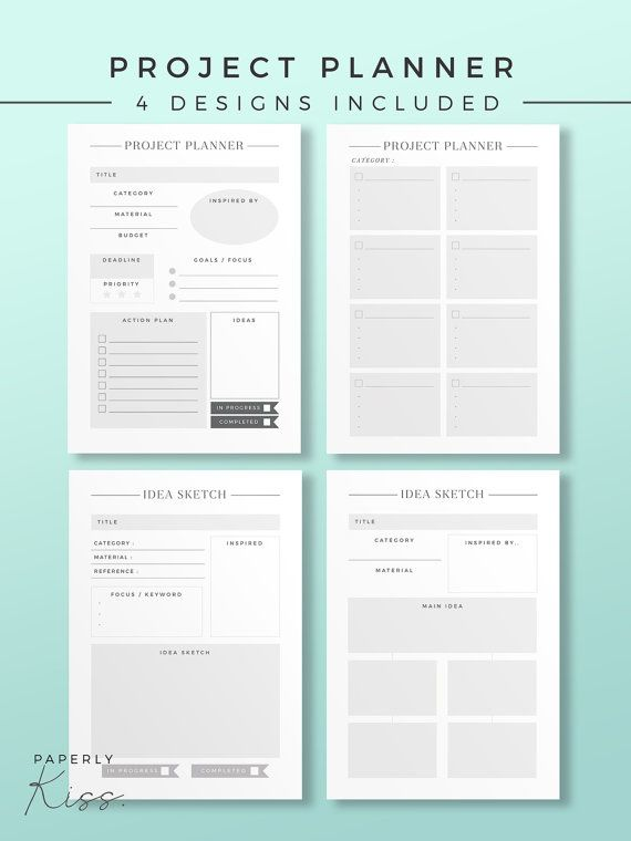 23 best Planner Templates images on Pinterest Planner template - project log template