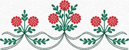 Best Sweet Embroidery  scalloped border with flowers   Would be great on pillowcase!